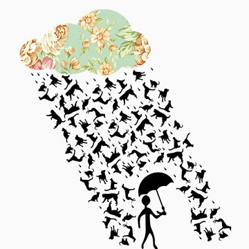 Floral raining cats and dogs by thecatswhisper