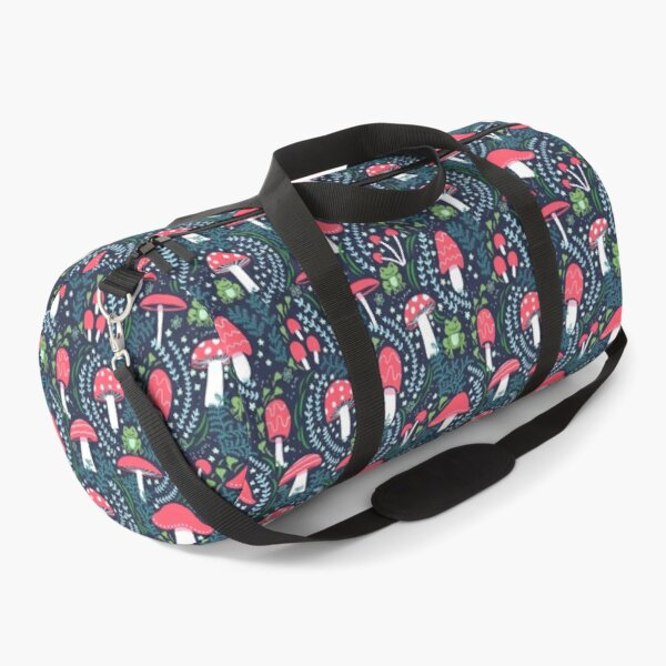 Mushrooms, Toadstools and Frogs Duffle Bag