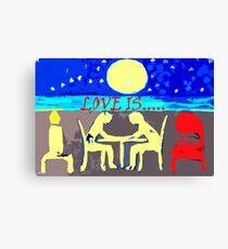 LOVE IS 14 Canvas Print