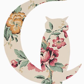 Floral Owl Silhouette by thecatswhisper