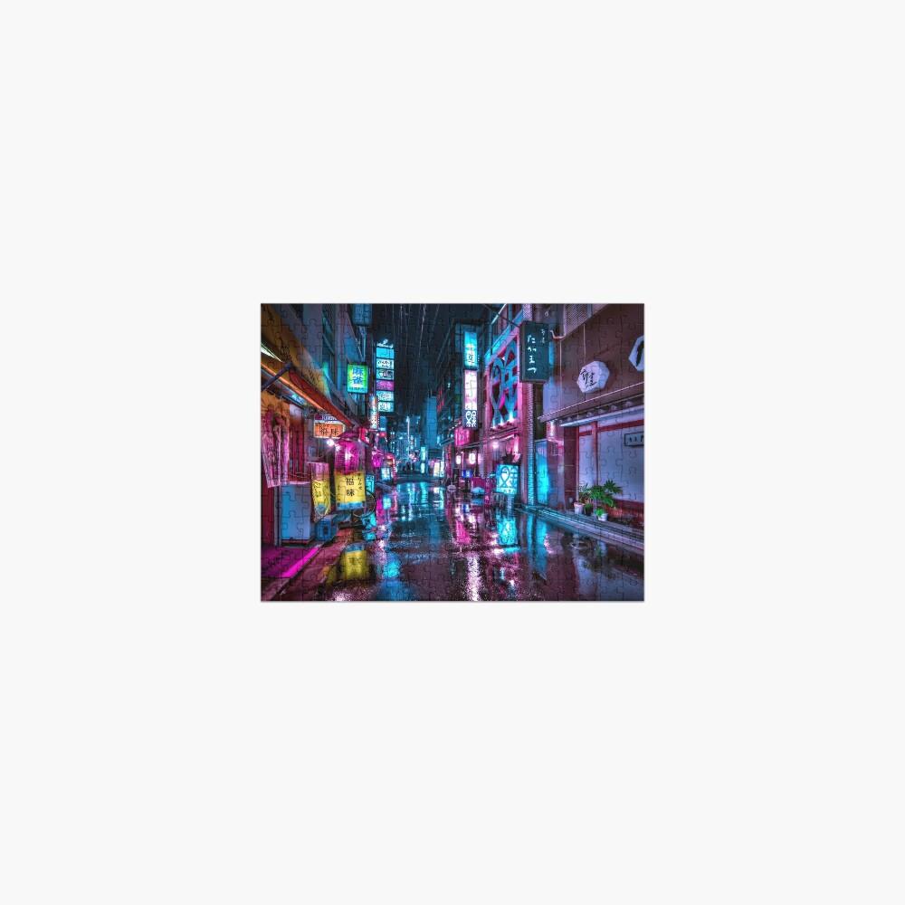 Tokyo at Night - Shimbashi Jigsaw Puzzle