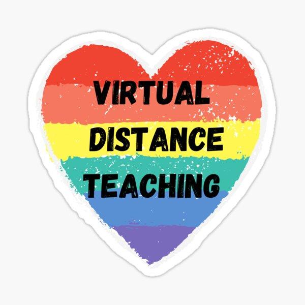 virtual distance teaching heart  Sticker