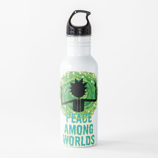 Peace Among Worlds - Rick and Morty Quotes Water Bottle