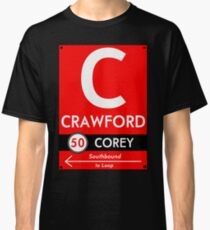 Retro CTA sign Crawford Classic T-Shirt