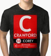 Retro CTA sign Crawford Tri-blend T-Shirt