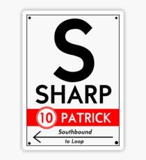 Retro CTA sign Sharp Sticker
