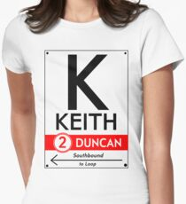 Retro CTA sign Keith Women's Fitted T-Shirt