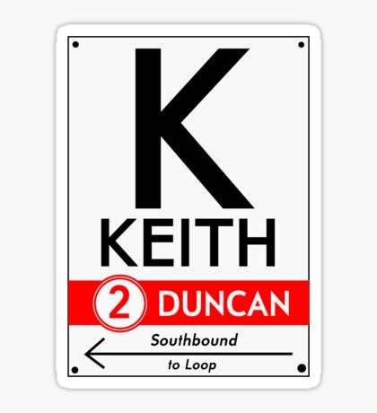 Retro CTA sign Keith Sticker