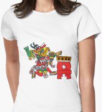 Huehucoyotl Ce Xochitl Women's Fitted T-Shirt