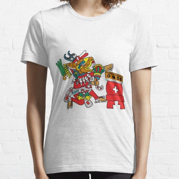 Huehucoyotl Ce Xochitl Essential T-Shirt