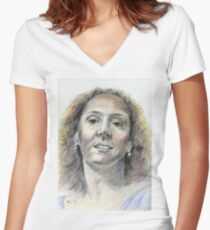 Patty Women's Fitted V-Neck T-Shirt