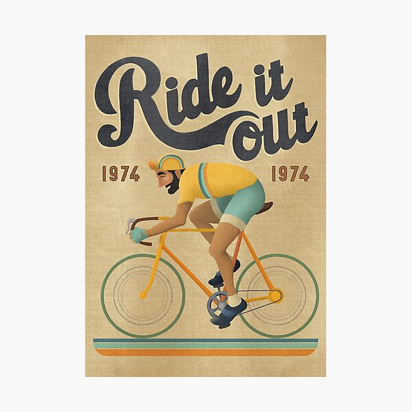 Ride it out Homme Photographic Print
