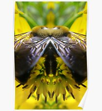 Agressive Bee - Nature's Mirror Image Poster