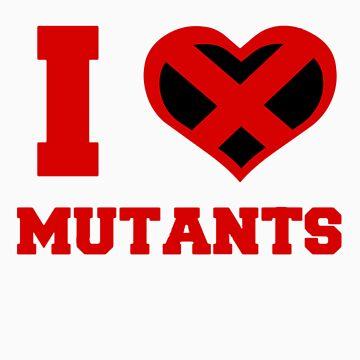 I Heart / Love Mutants by Pikachunicorn