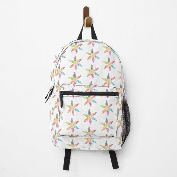 Surfboard Flower Watercolour Backpack