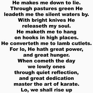 The Sheep's Prayer (black) by GentryRacing