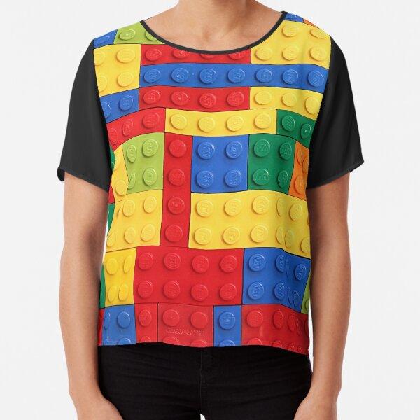 Colorful Bricks Design Chiffon Top