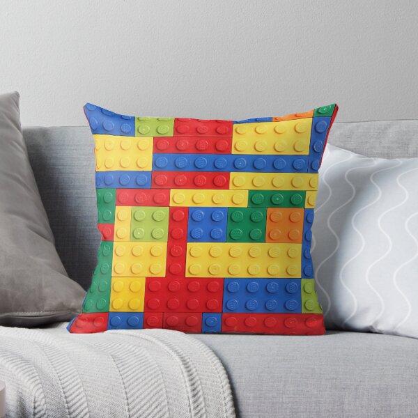 Colorful Bricks Design Throw Pillow