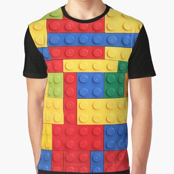 Colorful Bricks Design Graphic T-Shirt