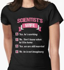 SCIENTIST'S WIFE Womens Fitted T-Shirt