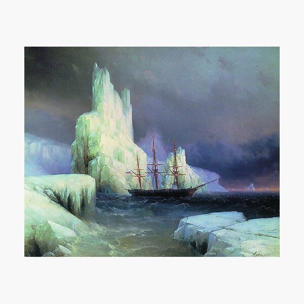 Icebergs in the Atlantic - Ivan Aivazovsky - 1870 Photographic Print