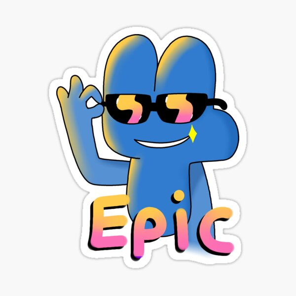 BFB Four with sunglasses Sticker