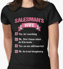 SALESMAN'S WIFE Women's Fitted T-Shirt
