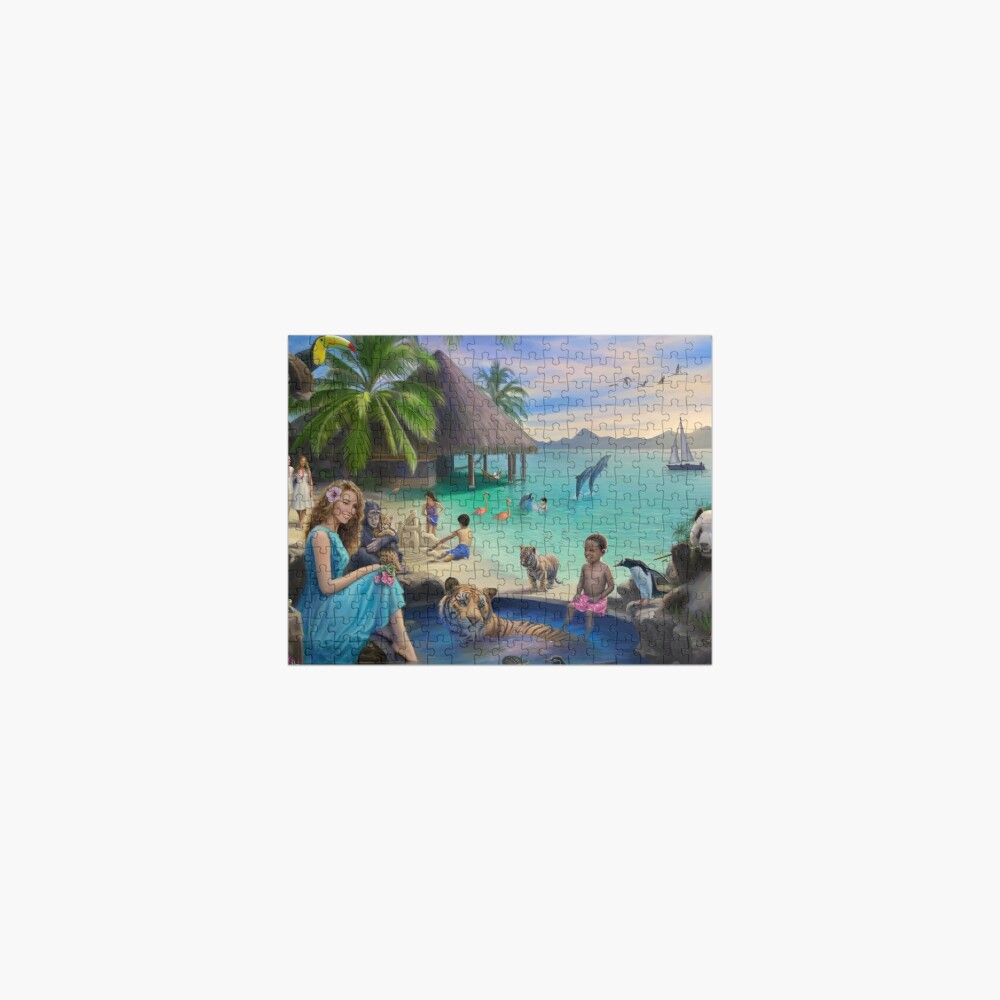A Pool in Paradise Jigsaw Puzzle