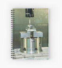 Metal tooling shop floor Spiral Notebook