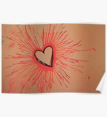 Exploding Heart Pink Poster