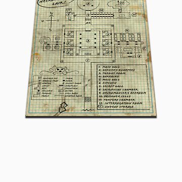 Dungeon Scrawl (Small Print) by PinMatt