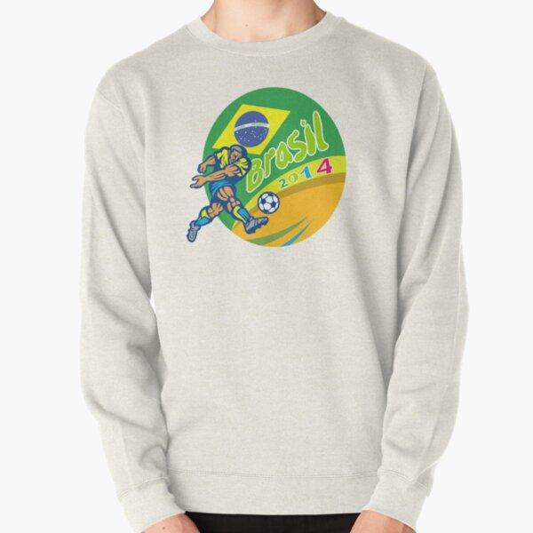 Brasil 2014 Football Player Kicking Retro Pullover Sweatshirt