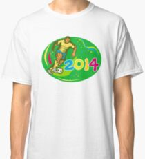 Brasil 2014 Soccer Football Player Run Retro Classic T-Shirt