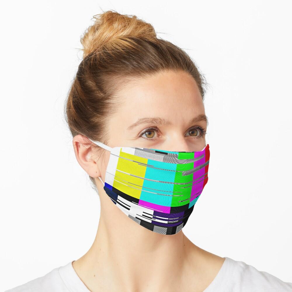 Glitchy TV colorbar Mask