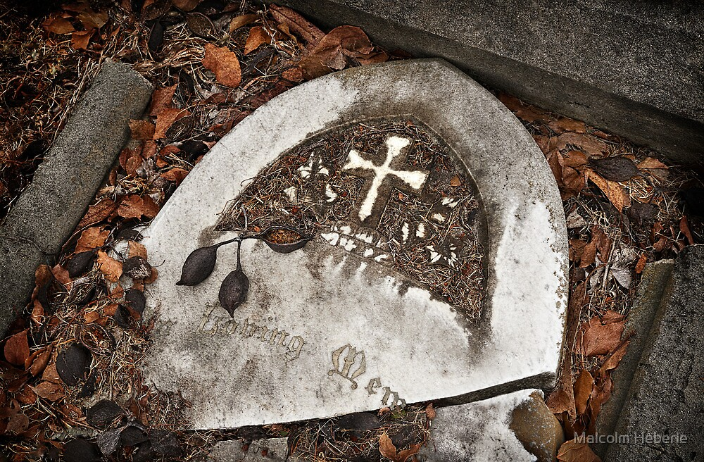 """Graveyard Adornments #15 - """" Loving Memory """" by Malcolm Heberle"""