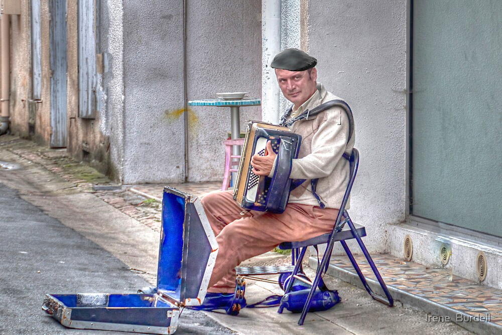 The Accordion Player  by Irene  Burdell