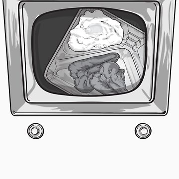 Hungry TV Tee by ross-campbell
