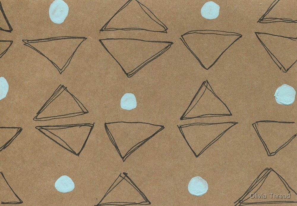 Triangles and Dots by Olivia  Thread