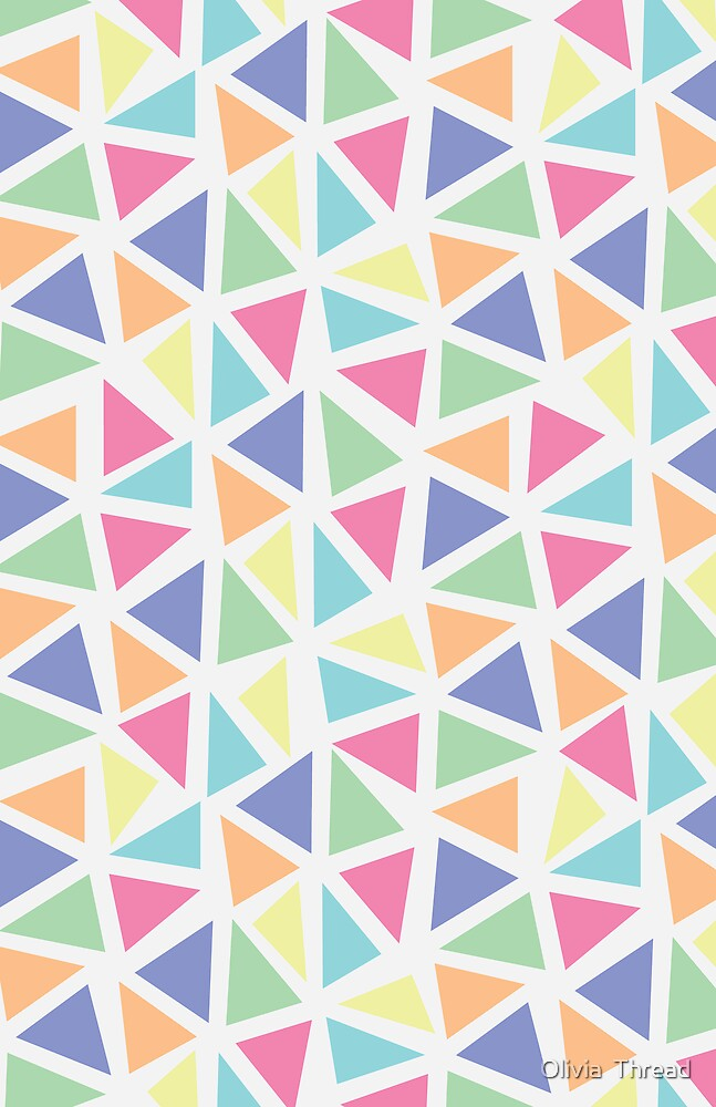 Whimsical Triangles: White by Olivia  Thread