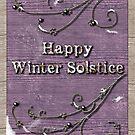 Happy Winter Solstice on Lavendar Wood by Lynne Goodman