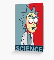 RICK AND MORTY - SCIENCE v2 Greeting Card