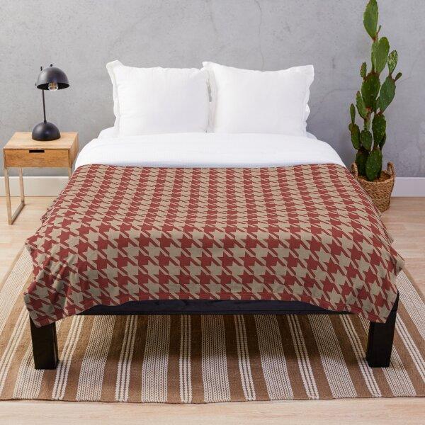 houndstooth pattern background Throw Blanket