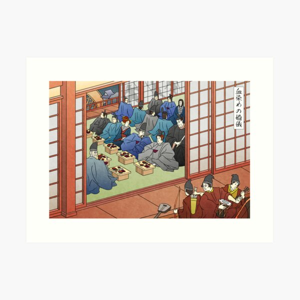 Wedding Banquet by the River Art Print