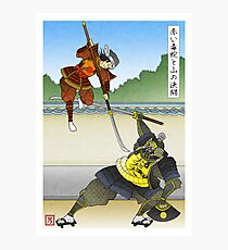The Red Viper Dueling the Mountain Photographic Print