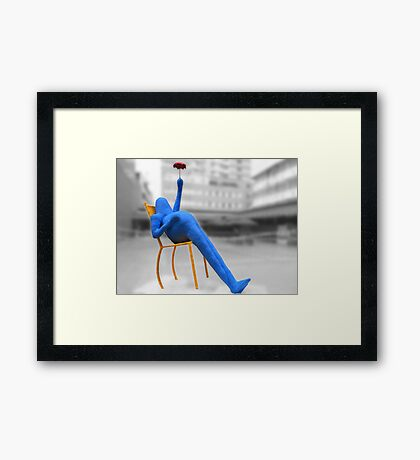 BE HAPPY! Framed Print