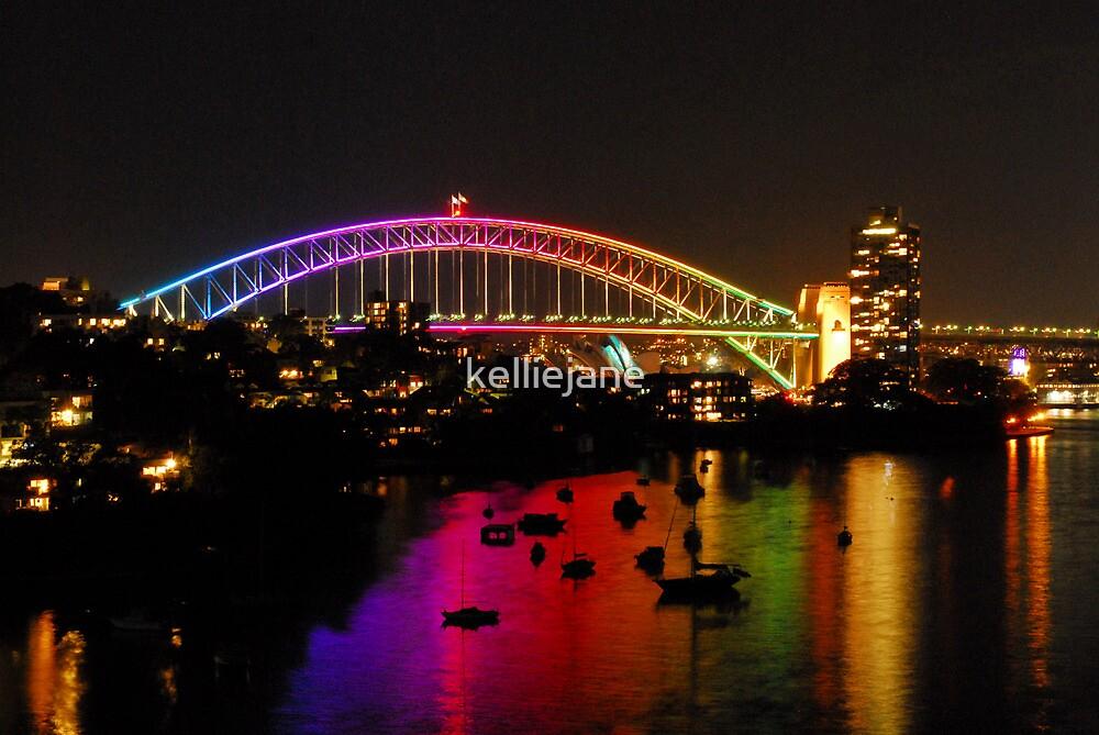 Vivid - Sydney Harbour Bridge by kelliejane