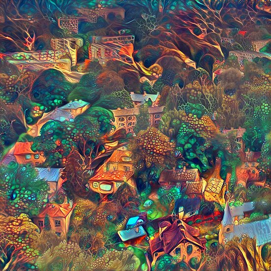 Fantasy city abstraction
