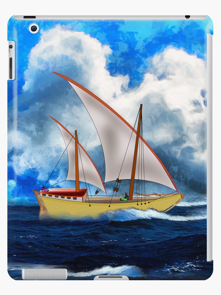 An Ancient Arab Dhow iPad/iPhone/Samsung cases by Dennis Melling