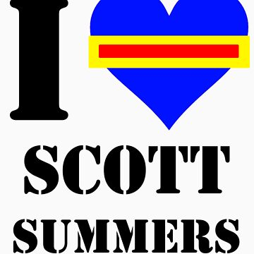I Love / Heart Scott Summers by Pikachunicorn