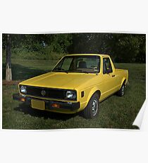 1980 VW Rabbit Diesel Pickup Truck Poster